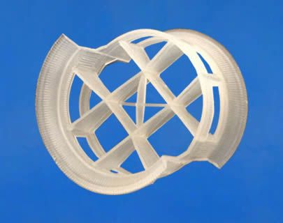 There is a plastic conjugate ring. It has rectangular openings on its lateral wall.